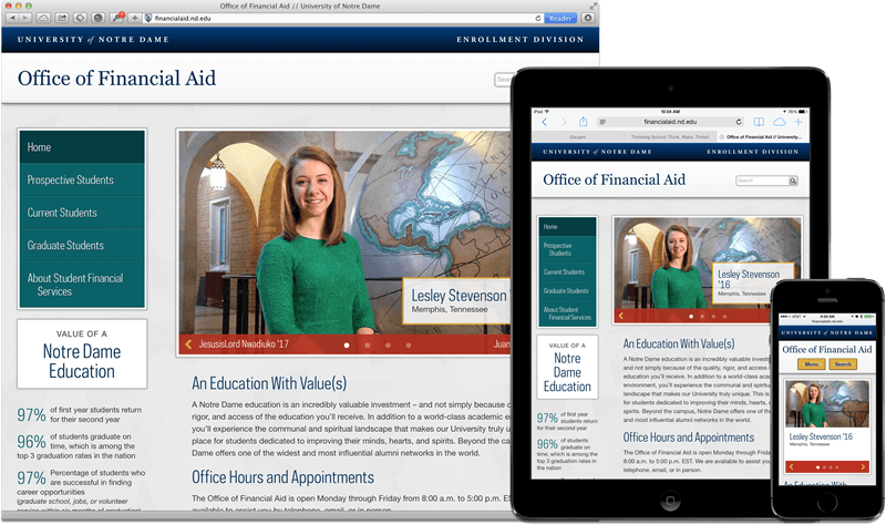 Financial Aid website composite