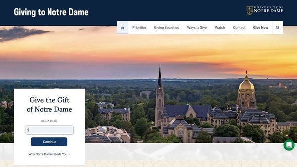 Giving to Notre Dame